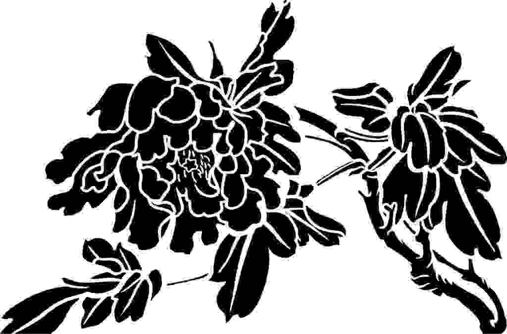 牡丹 黑白矢量图 背景底纹 古典 古风 广告设计 花 花边 花纹