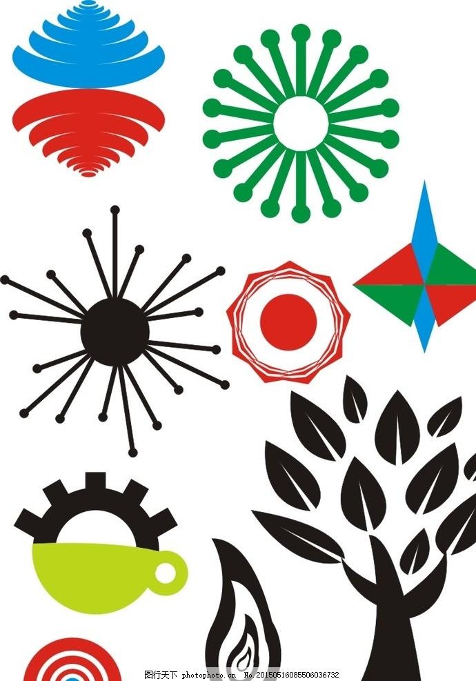 原创矢量图形优美图案设计 圆形 不规则 标识类 标志图标 其他图标