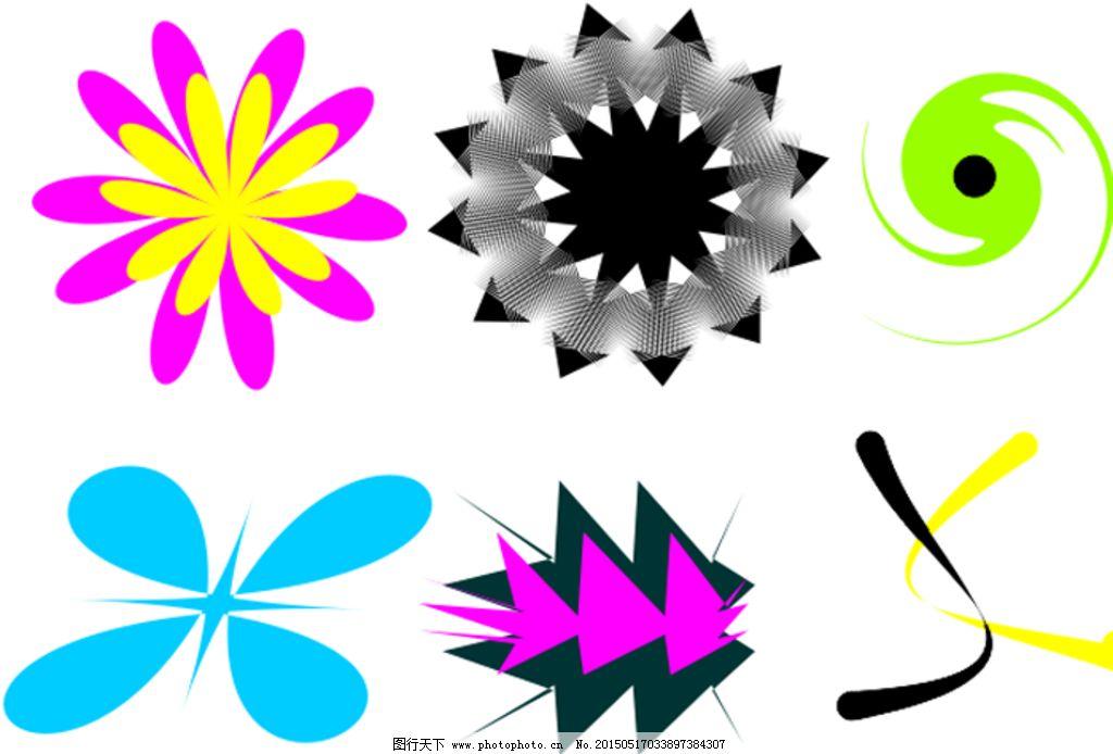 图形 创意 形状 圆 花 设计 其他 图片素材 cdr