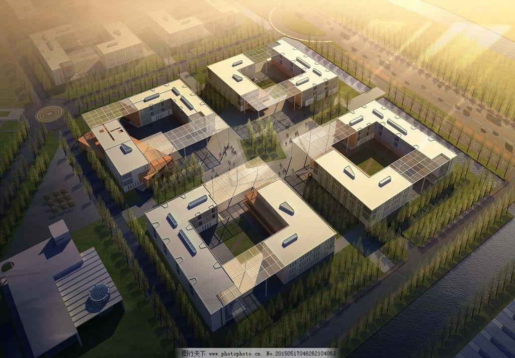 鸟瞰图手绘 建筑设计