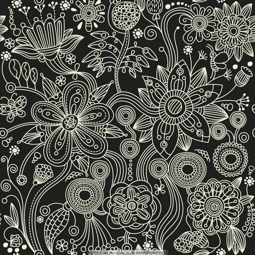 古典花纹-高清背景素材