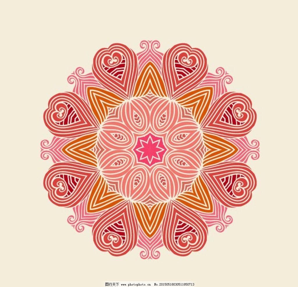 欧式复古花纹图片_卡通设计