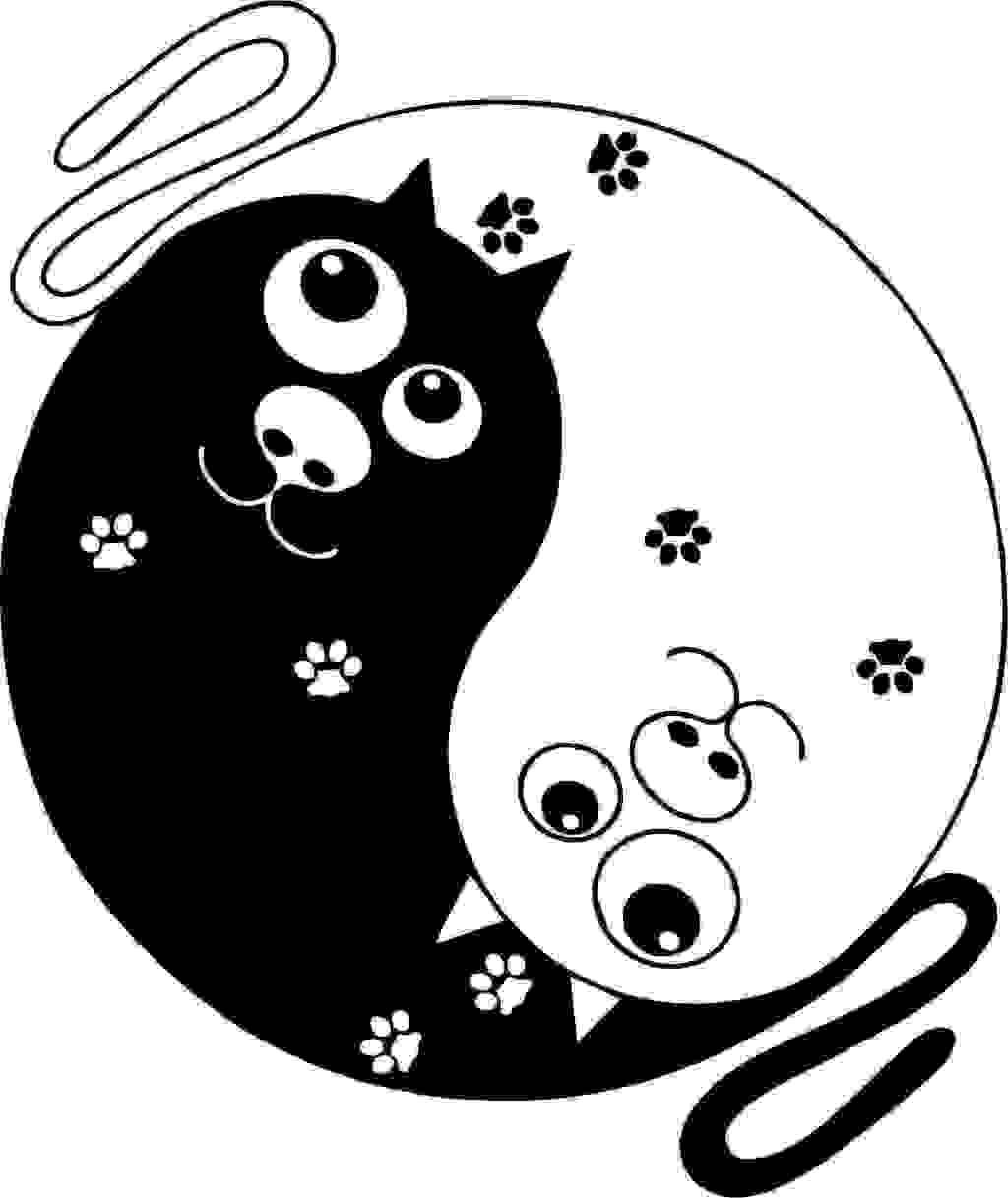 小猫免费下载 logo设计 动物素材 广告设计 海报设计 黑白 卡通人物