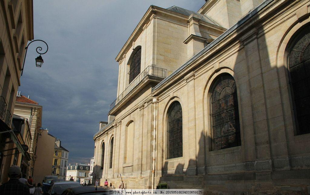 欧美建筑图片,欧美经典建筑 楼房建筑 蓝天 欧式风情