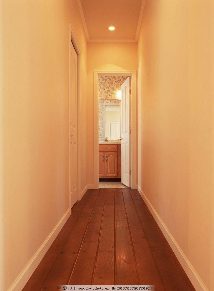 室内装修 田园 美式风格 走廊 木地板 通道 木门 42 室内装饰 摄影
