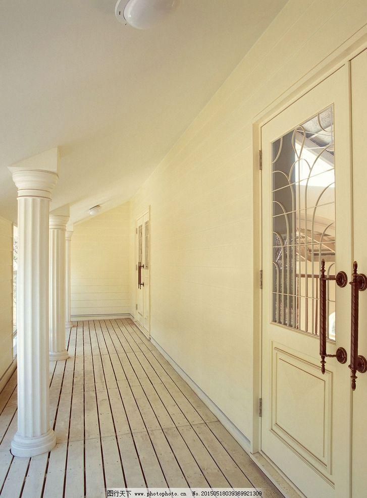 室内装修 田园 美式风格 走廊 木地板 通道 木门 42 室内装饰 摄影 建
