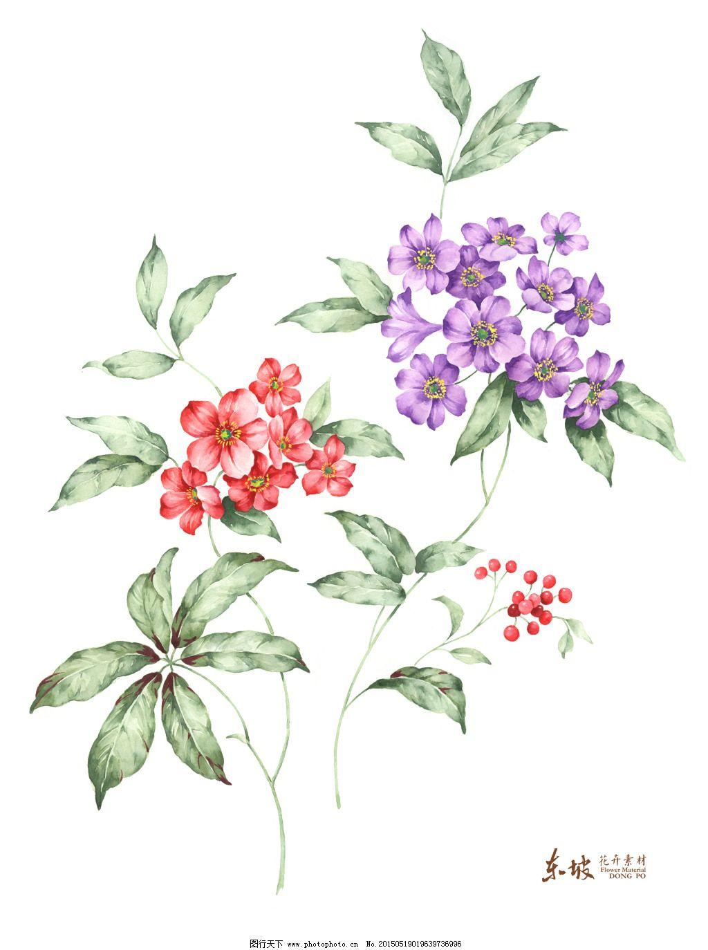 小碎花手绘免费下载 花卉素材