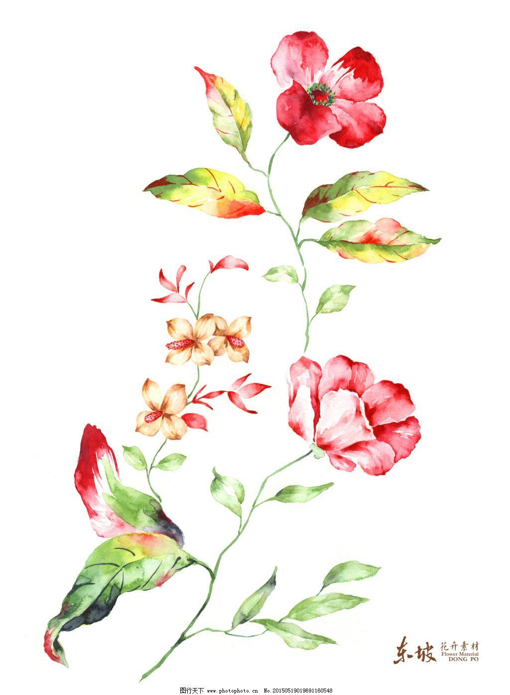 清爽手绘花束