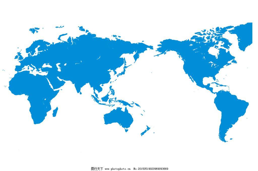 高清世界地图轮廓