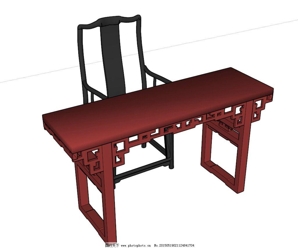 中式书桌椅图片图片