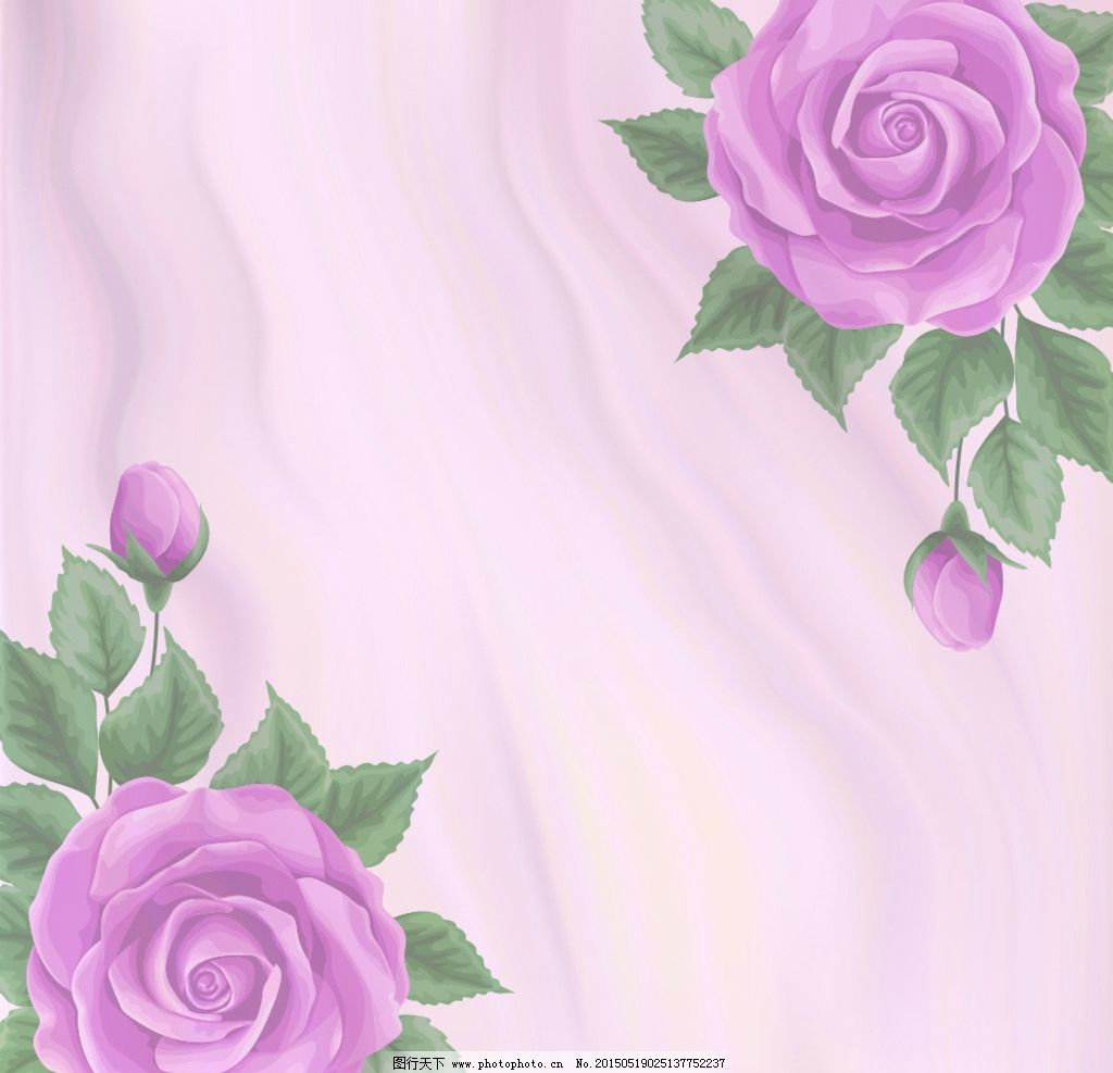 手绘玫瑰花 红色玫瑰花