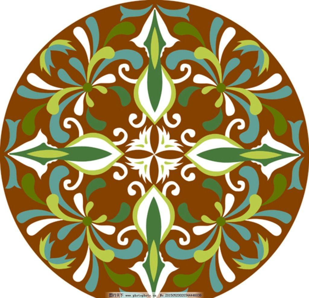 圆形 图案 复古 对称 华丽矢量花纹 古典花纹 装饰花纹 边框花纹 花纹