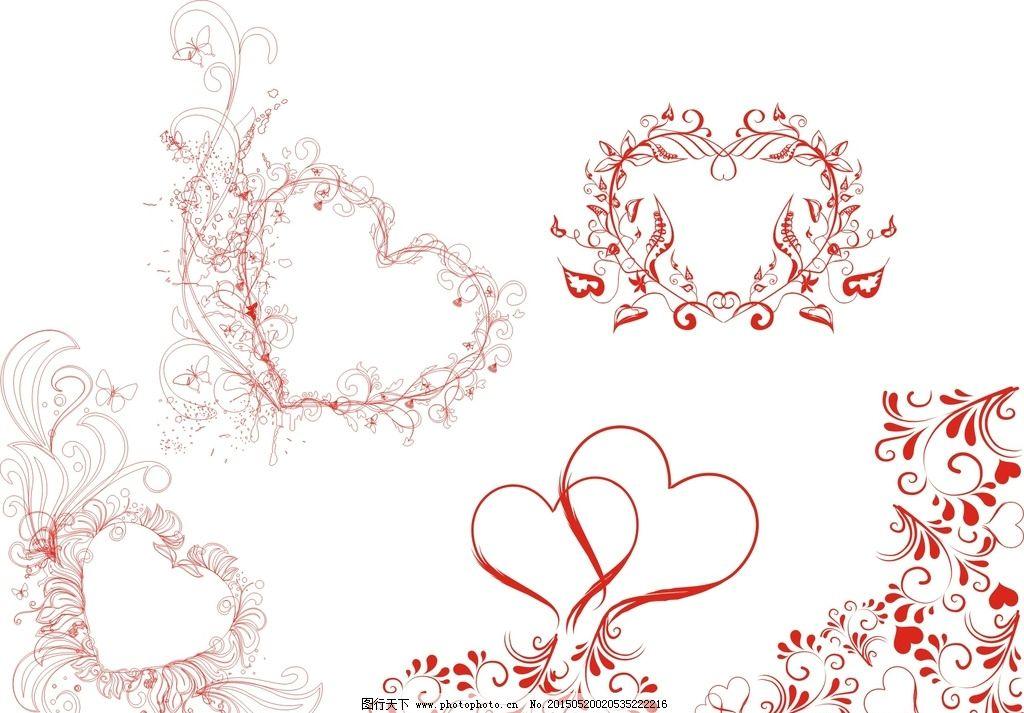 心形花纹边框图片