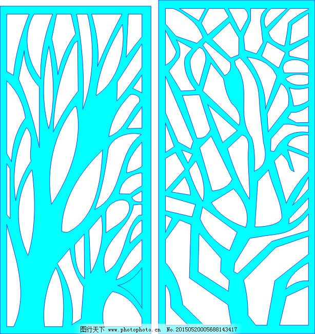 树形免费下载 矢量图 树形 纹路 树形 纹路 矢量图 建筑家居