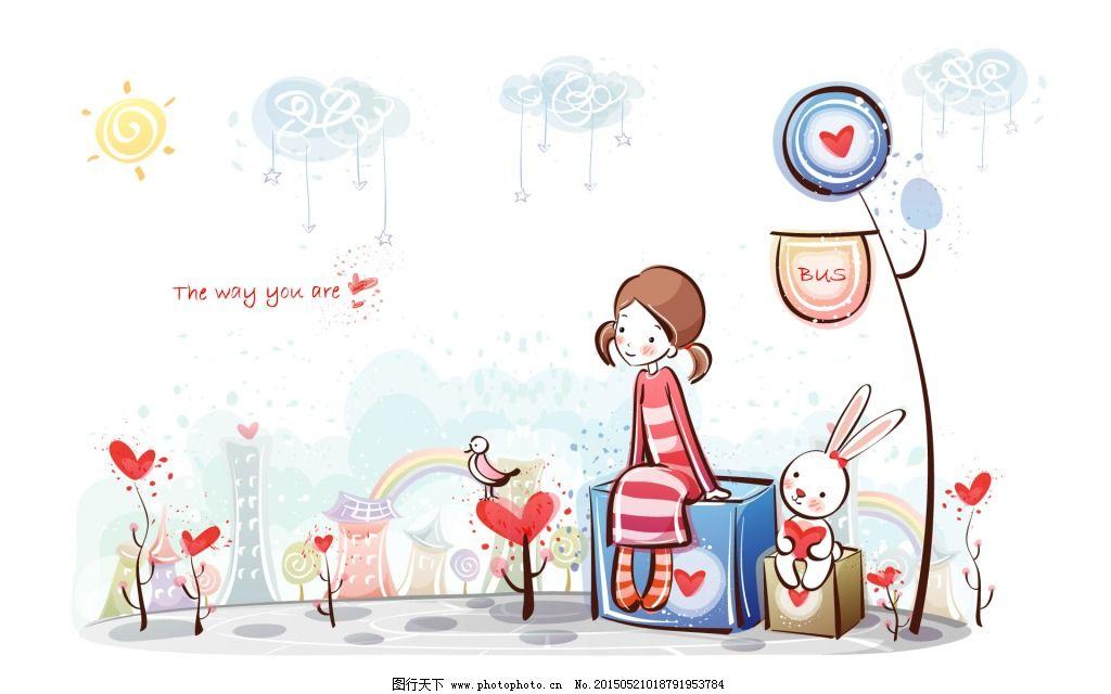 等待 卡通 兔子 等待 遥望 兔子 卡通 图片素材 卡通|动漫|可爱图片
