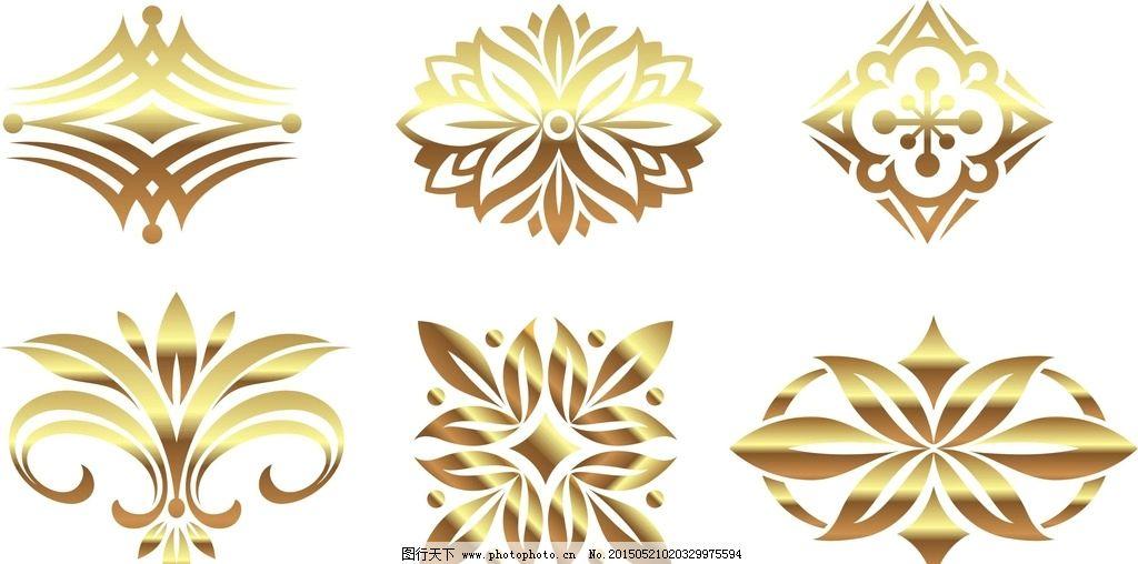 欧式 花纹图片,丽花边 花边矢量素材 角花边 边框-图