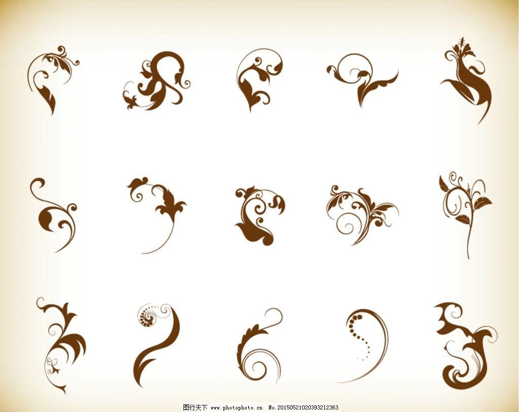 复古手绘花纹图片