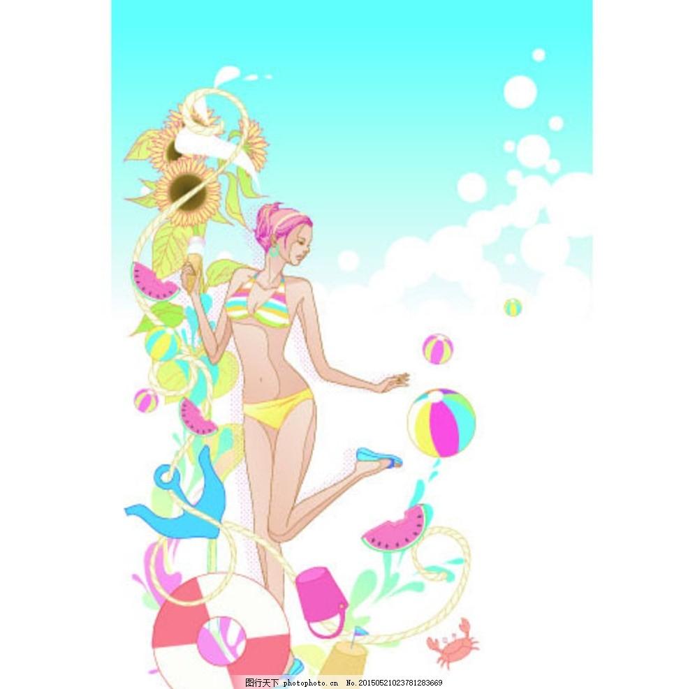 夏季 q版动漫人物