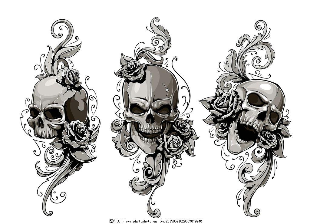 骷髅动物简笔画