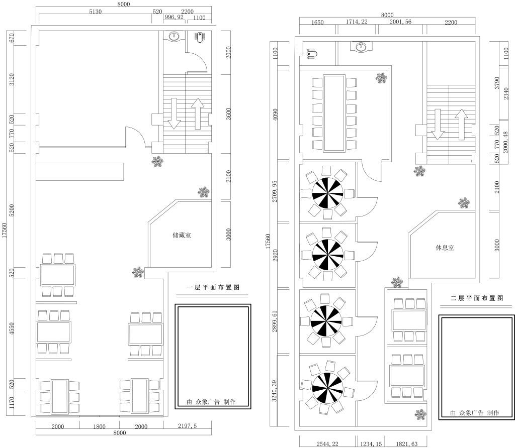 平面布置图 平面布置图免费下载 饭店布置图 原创设计 其他原创设计