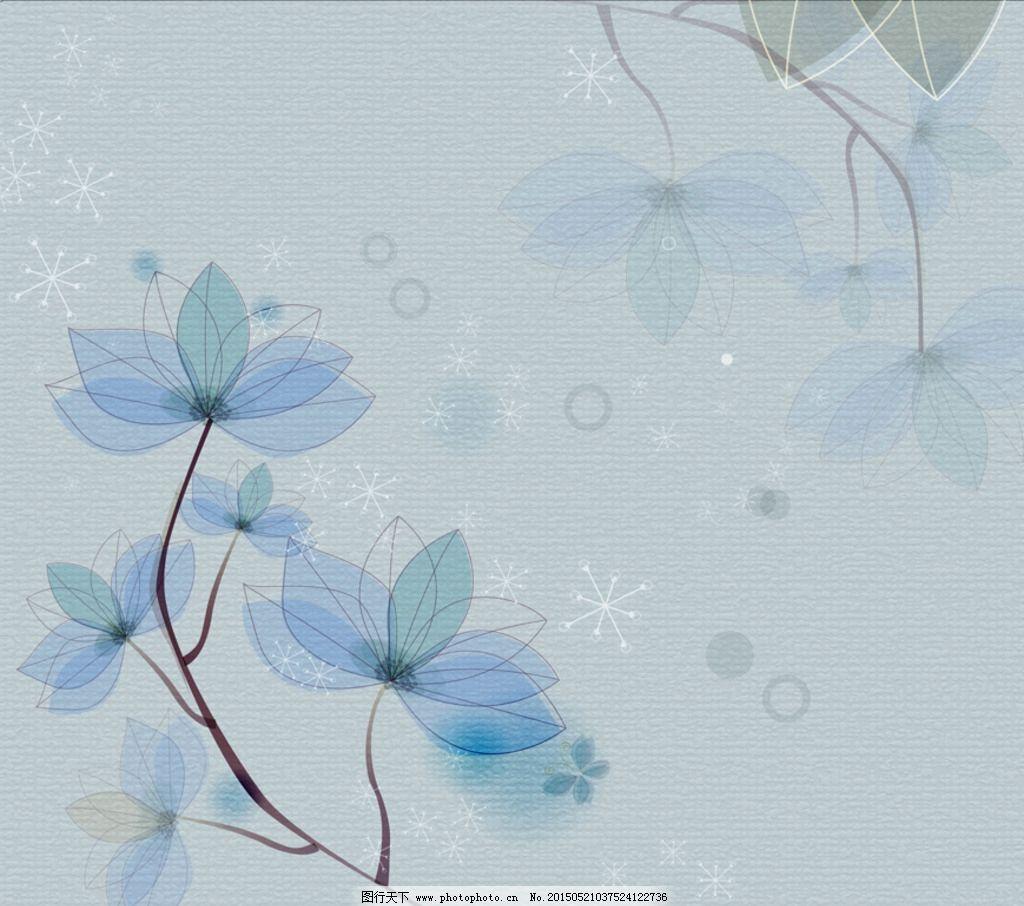 鲜花 插画 墙纸 壁纸 鲜花背景 鲜花素材 清新背景 小清新 花朵 兰花