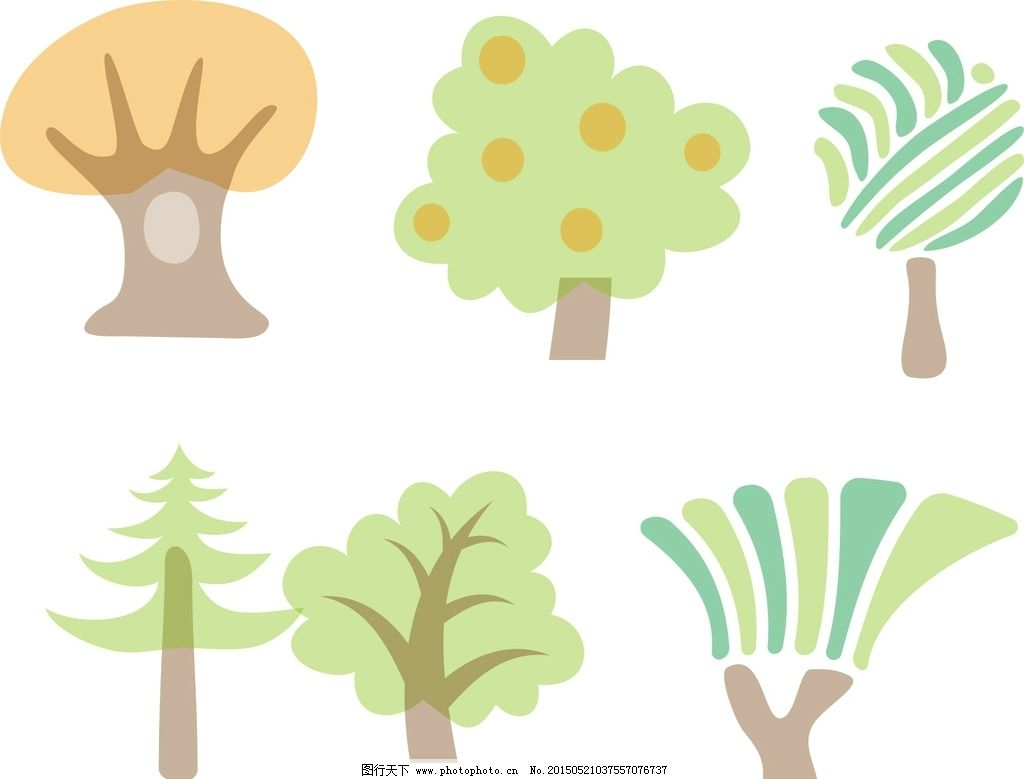 手绘树木图片