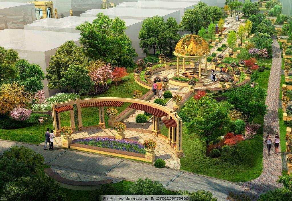 景观效果图 园林景观 房地产建筑 高端小区        设计 环境设计