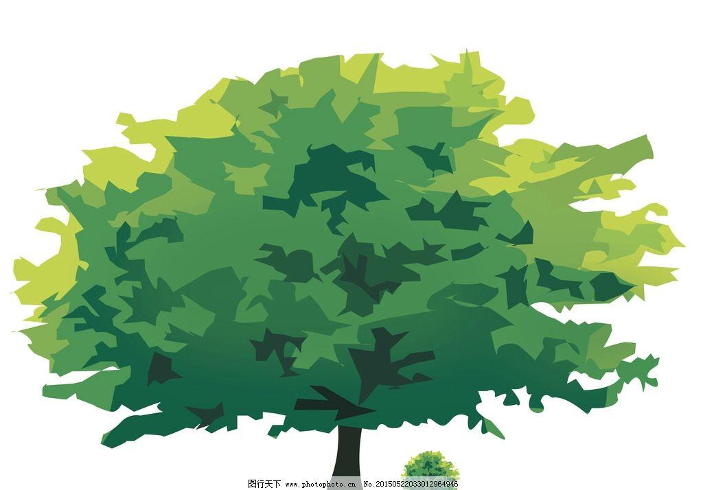 大树矢量图 大树图标 榕树图片