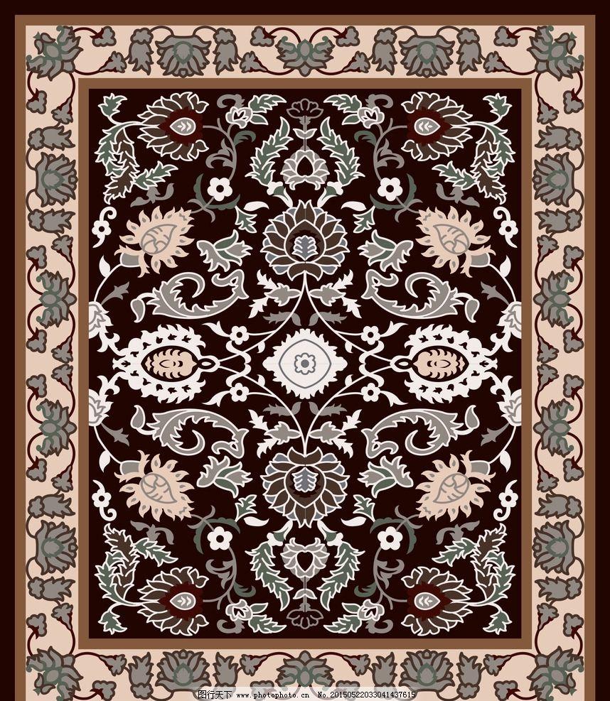 欧式地毯 客厅地毯图 地毯图案 对称图案 地毯效果图 设计 psd分层