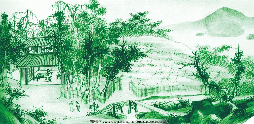 竹林景观手绘教程图片