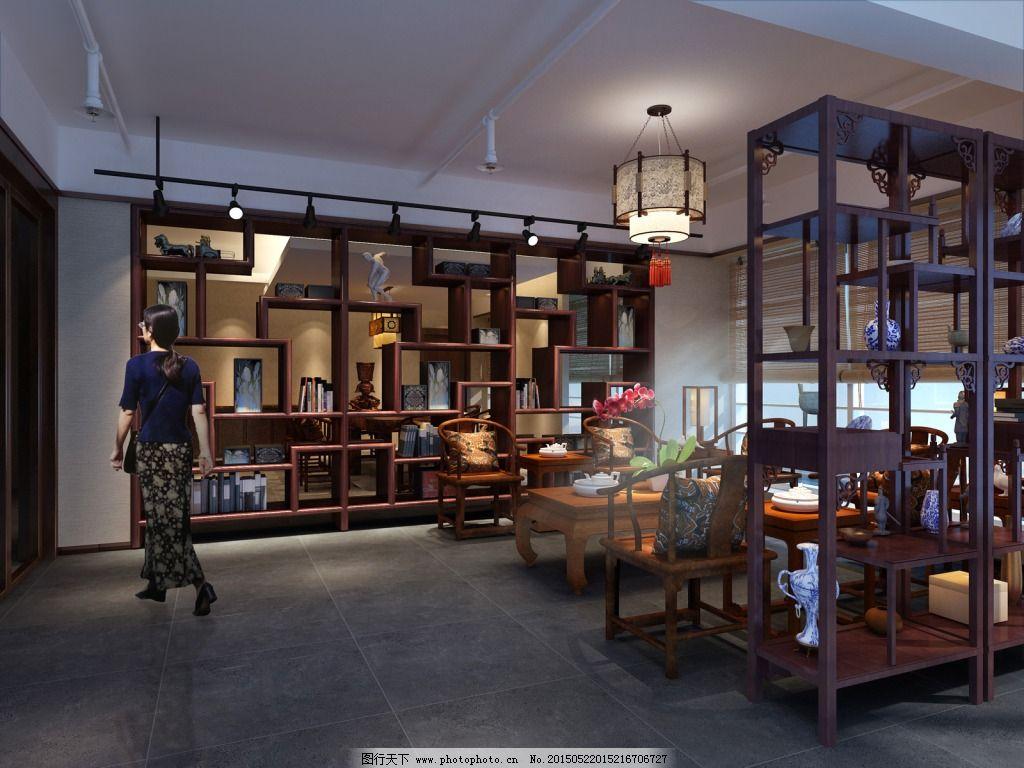 书画展厅设计图片