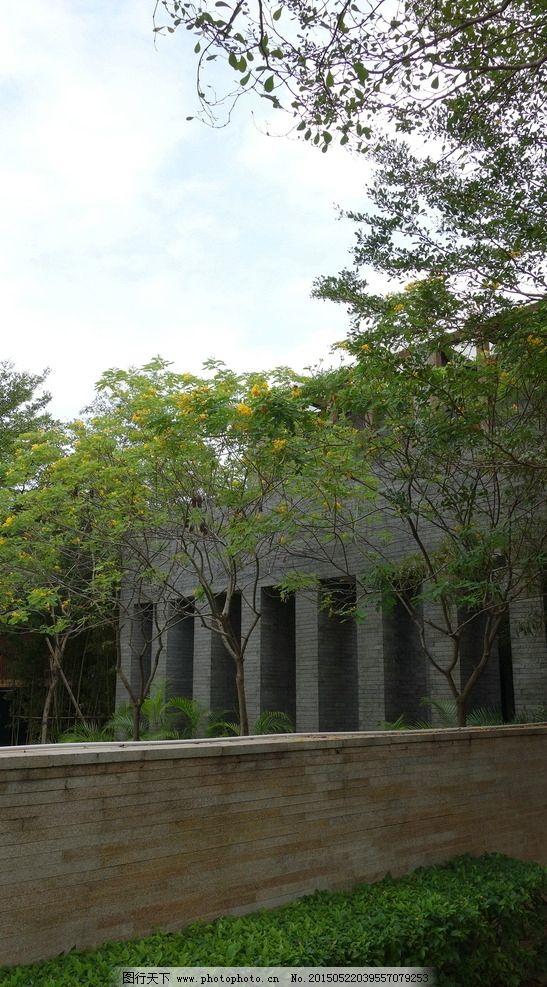 中式景观 围墙 景墙 新中式景观 住宅景观 摄影 建筑园林 园林建筑图片