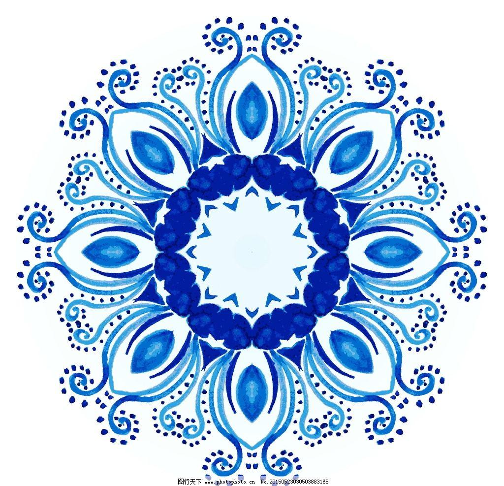 古典花纹 复古 植物花纹 建筑花纹 民族装饰图案 壁画 插图 手绘花纹