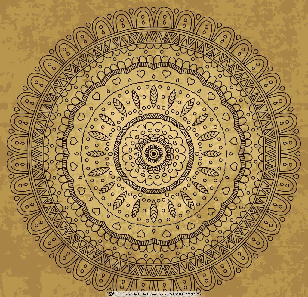 圆形花纹 花纹背景 花边 边框 对称花纹 装饰花纹 古典花纹 复古