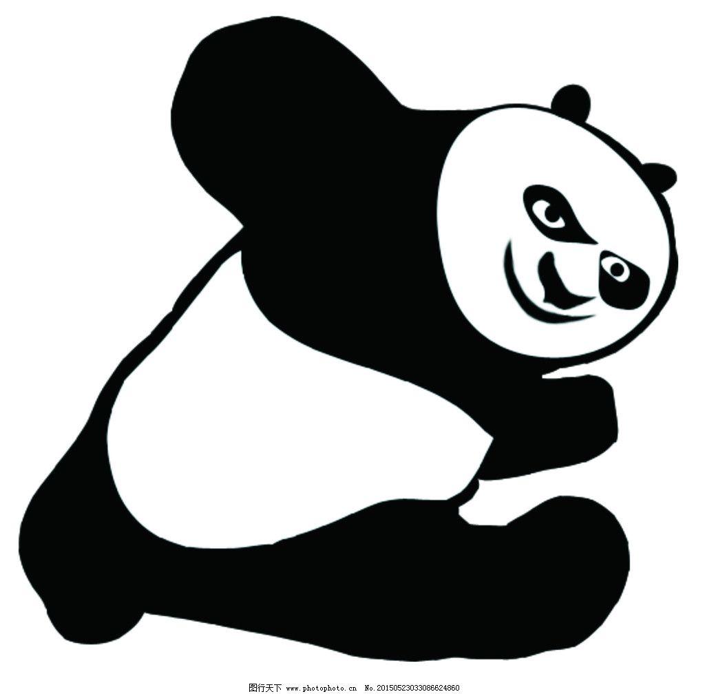 功夫熊猫简笔画