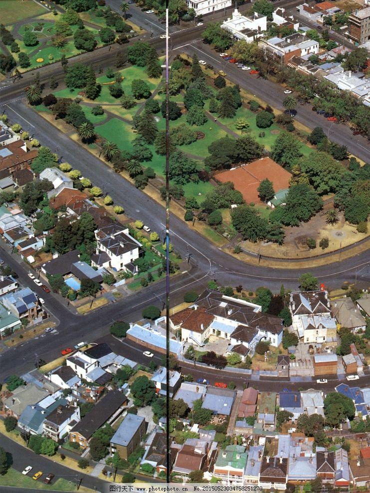 鸟瞰城市 现在都市 现代建筑 建筑摄影 城市一览 树木 青山绿水 草地