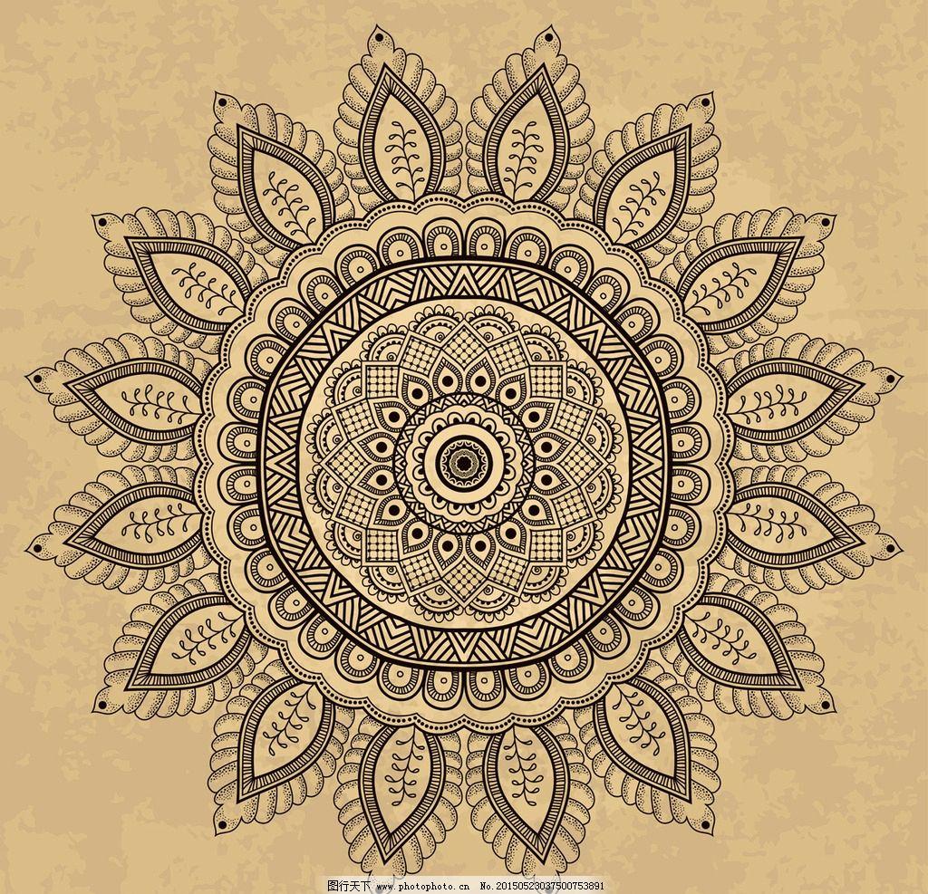 花纹背景 花边 边框 对称花纹 圆形花纹 装饰花纹 古典花纹 复古