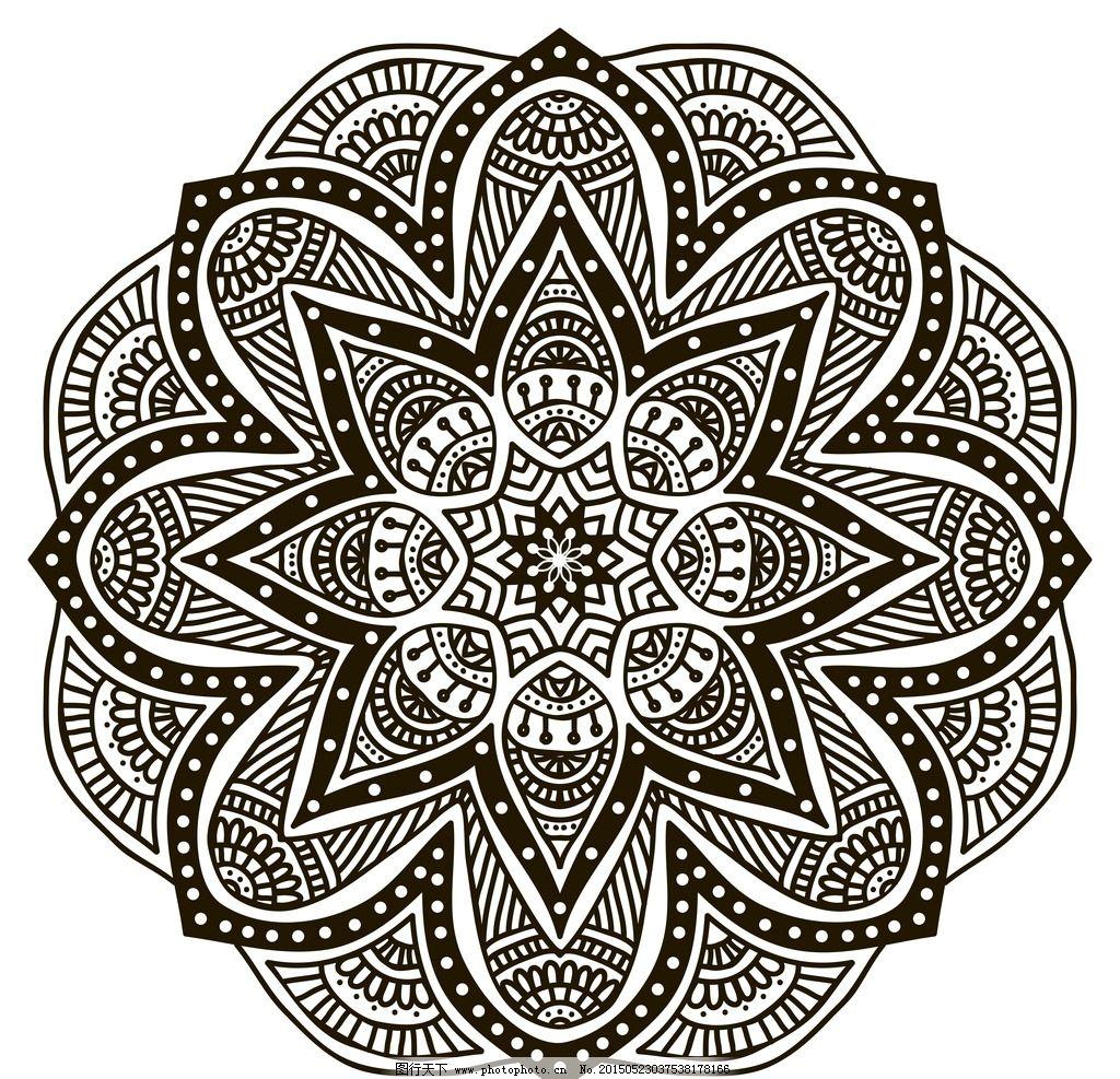 花纹背景 花边 边框 花纹分割线 对称花纹 圆形花纹 装饰花纹