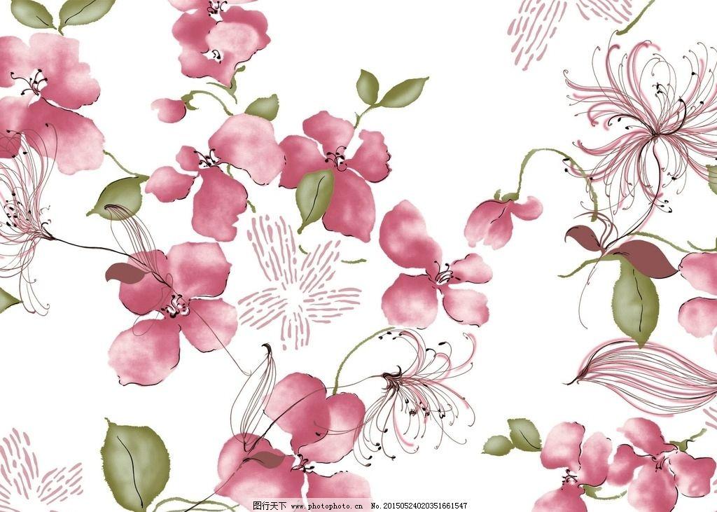 高清手绘水彩玫瑰背景图片