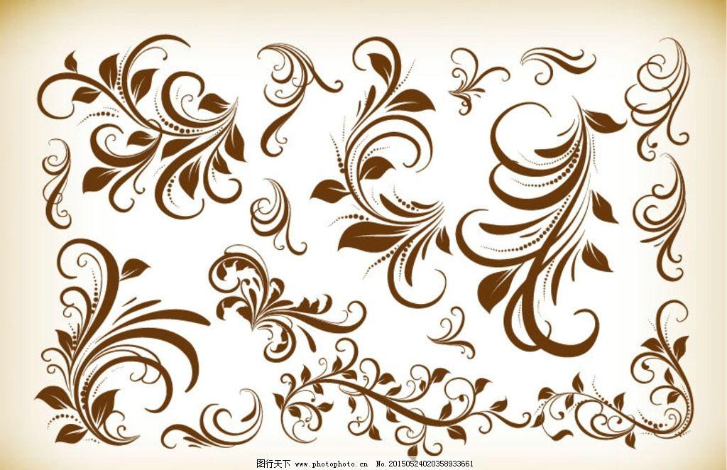 手绘复古花纹图片