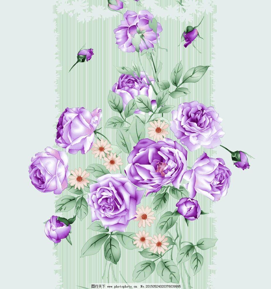 手绘花卉图片_花边花纹