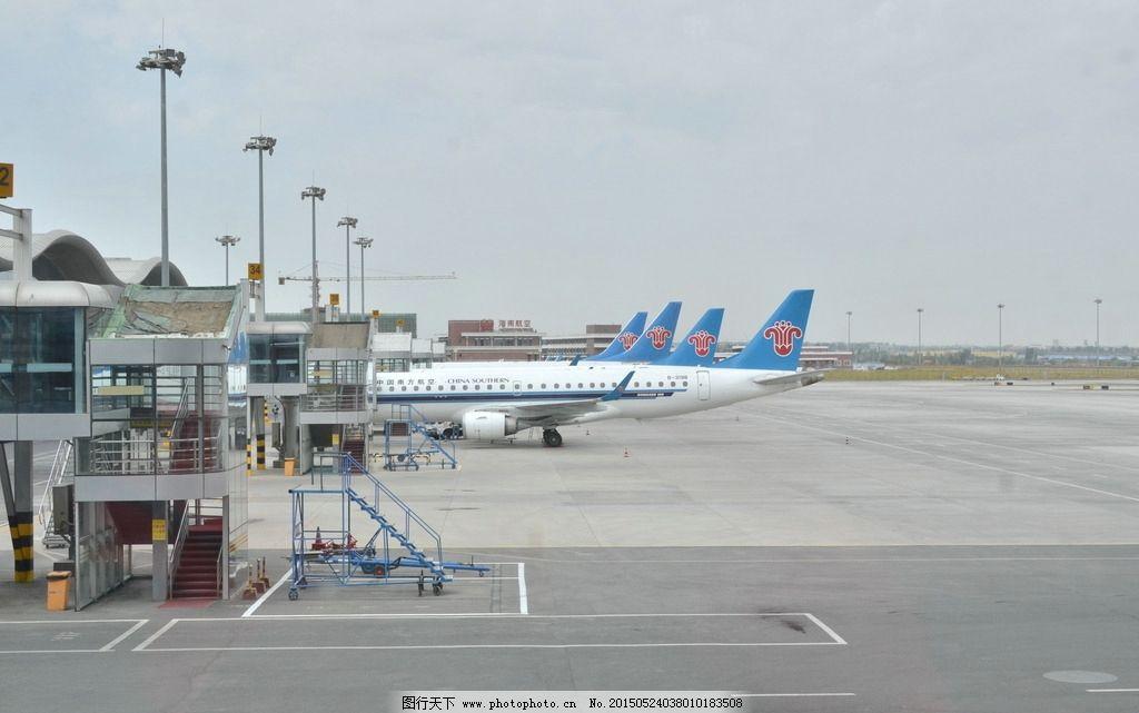 波音737 飞机 机场 郑州机场 航行 摄影 现代科技 交通工具 300dpi jp