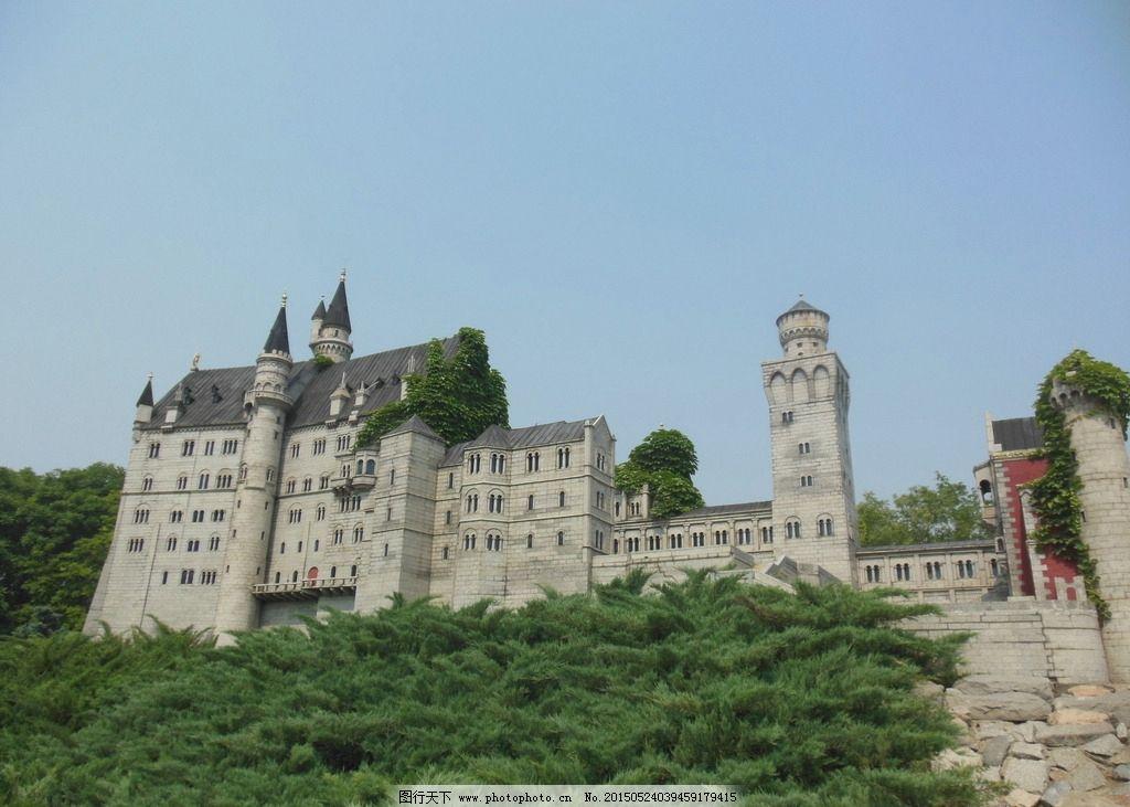 新天鹅城堡 新天鹅堡 德国建筑 树木 建筑风景 古代建筑 世界建筑风景