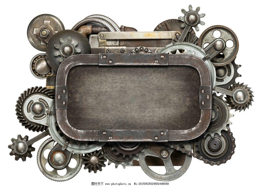 齿轮机械 机械零件 对话框 钟表内部 齿轮边框 工业零件 工业生产