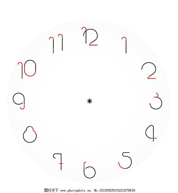 创意时钟数字设计