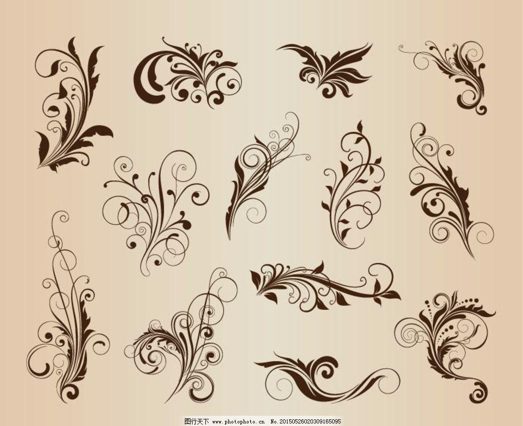 欧式复古花纹 欧式花纹底纹