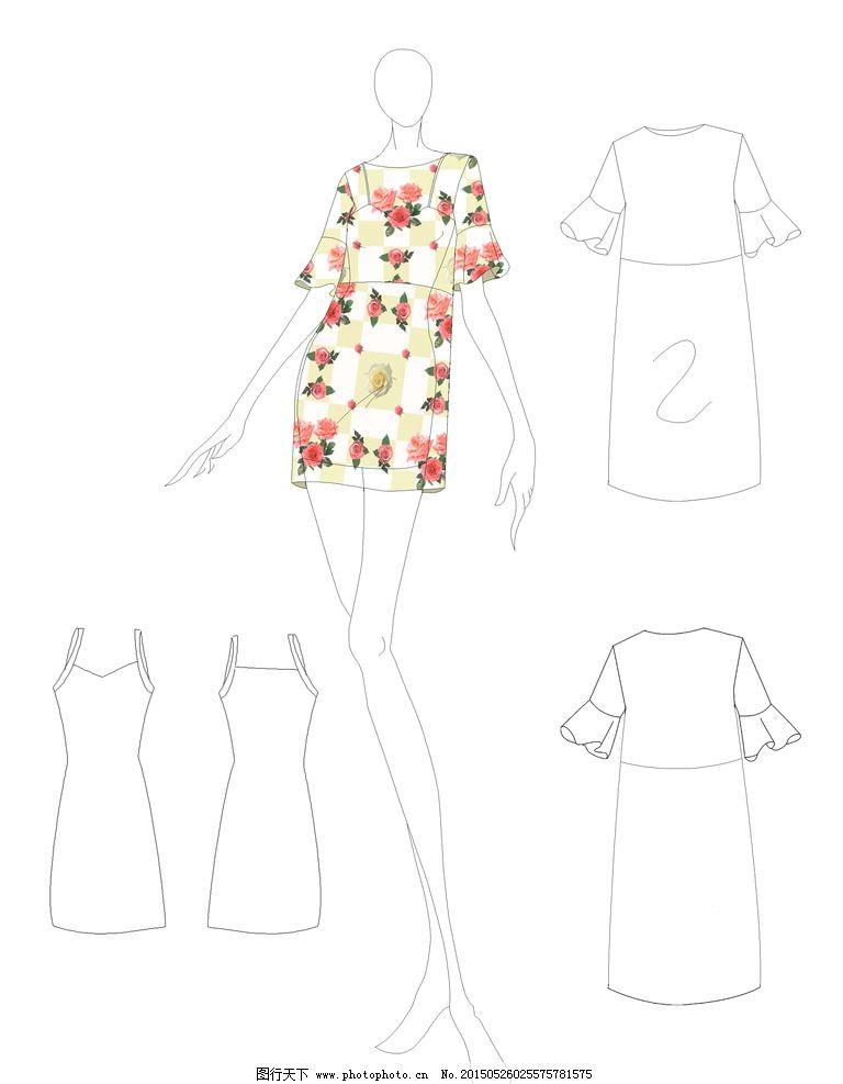 印花连衣裙设计图片