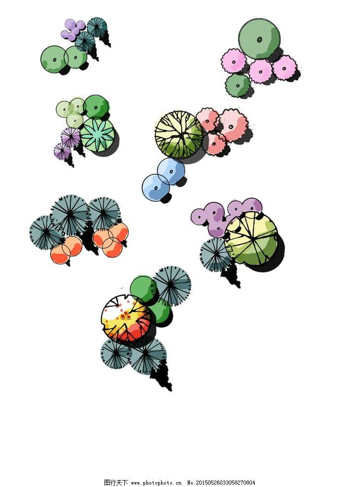 手绘平面植物图片