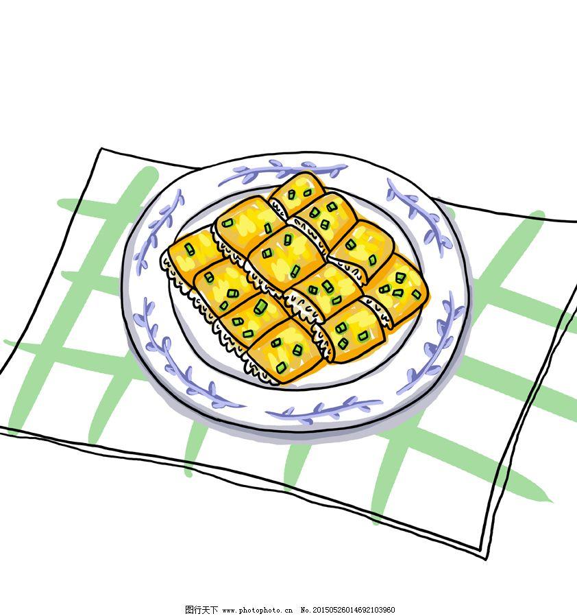 【原创】手绘武汉小吃豆皮插画