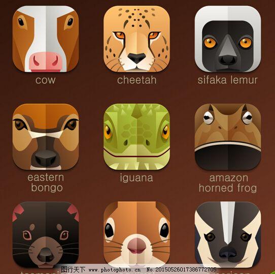 动物头像图标eps